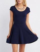 Charlotte Russe Cap Sleeve Skater Dress