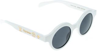 Louis Vuitton x Supreme White / Grey Z0991W Downtown Round Sunglasses