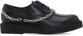 Neil Barrett Leather Lace-up Shoes W/ Chain