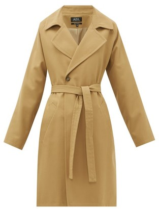 A.P.C. Bakerstreet Belted Twill Coat - Womens - Camel