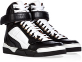 Givenchy Leather Two-Tone Sneakers