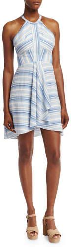 Amanda Uprichard Vineyard Striped Cotton Mini Dress, Multi