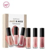 Bare Escentuals Bareminerals Nude & Nice 3 pc. lip set