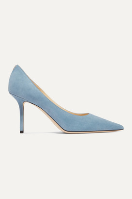 Jimmy Choo Love 85 Suede Pumps - Light blue
