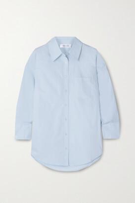 Anine Bing - Mika Cotton-poplin Shirt - Blue