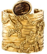Saint Laurent Arty Wide Textured Cuff