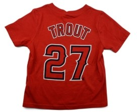 Nike Los Angeles Angels Mike Trout Toddler Name and Number Player T-Shirt