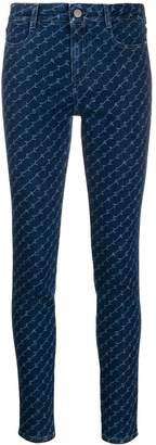 Stella McCartney High-Rise Skinny monogram denim jeans