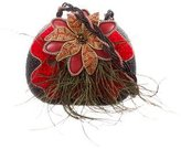 Mary Frances Holly Berry Embellished Bag w/ Tags