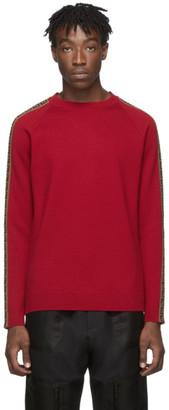 Fendi Red Forever Side Stripe Sweater
