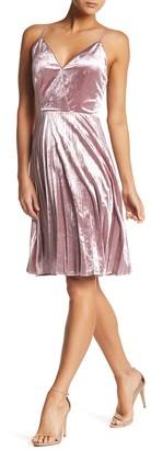 Chelsea28 Pleated Velvet Dress