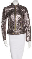 Dolce & Gabbana Leather Metallic Jacket