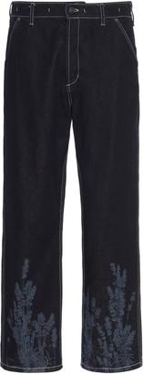 Jacquemus Le De Nimes Rigid Mid-Rise Straight-Leg Jean