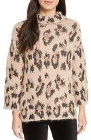 Kate Spade Women's Leopard Print Chunky Sweater