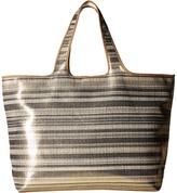 Echo Metallic Stripe Hamptons Tote Tote Handbags