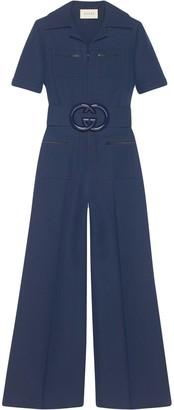 Gucci Interlocking G belted jumpsuit