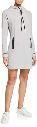 Marc Ny Performance Baby French Terry Long-Sleeve Hooded Dress