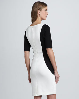 Trina Turk Vamp Contour Ponte Dress