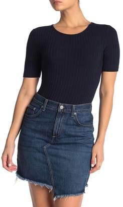 Elodie K Elbow Sleeve Ribbed Bodysuit