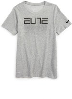 Nike Boy's Dry Elite Fade Away Graphic T-Shirt