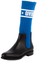 Givenchy Storm Low Knit Rain Boot
