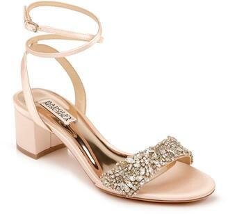 Badgley Mischka Jada Embellished Block Heel Sandal