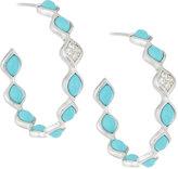 Elizabeth Showers Simone Small Eternity Hoop Earrings, Blue Turquoise
