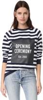 Opening Ceremony Box Logo Striped Sweatshirt