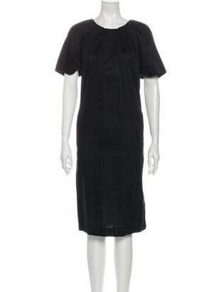 Marni Crew Neck Midi Length Dress Black