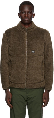 Snow Peak Brown Wool Fleece Jacket