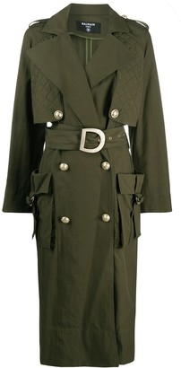 Balmain Oversized Double-Breasted Trench