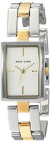 Anne Klein Women's Quartz Metal and Alloy Dress Watch, Color:Two Tone (Model: AK/2639SVTT)