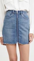 Good American Exposed Zip Miniskirt