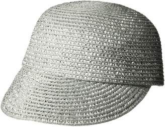 Eric Javits Women's Mondo Cap-Small/Medium-Silver