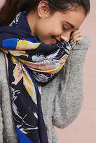 Anthropologie Nanette Embroidered Scarf