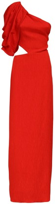 Johanna Ortiz One-shoulder Long Dress W/ Cutouts