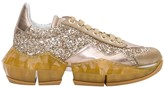 Jimmy Choo Crystal Shimmer Suede Low Top Trainers