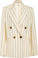 Khaite Isa Striped Double-Breasted Blazer