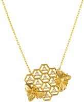 Latelita Queen Bee Honey Comb Necklace Gold