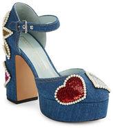 Marc Jacobs Katie Denim Platform Heels