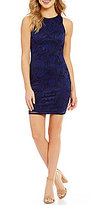 I.N. San Francisco Two-Tone Lace Sheath Dress