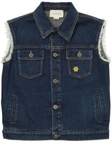 Gucci Embroidered Denim Vest