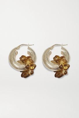 Santangelo Zuma Silver Quartz Hoop Earrings - one size