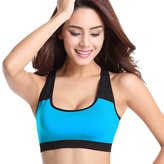 chendongdong Womens Yoga Sports Running Bra Crop Top Vest Stretch Bras Shapewear Padded