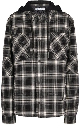 Off-White Hooded Check Overshirt