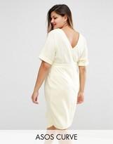 Asos Plain Wiggle Cut Out Back Dress