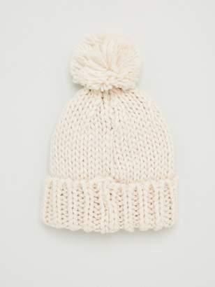 Very Chunky Knit Pom Pom Beanie