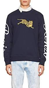 Kenzo Men's Tiger-Embroidered Cotton French Terry Sweatshirt - Navy