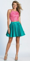 Dave and Johnny Lace Embellished Two Piece Fit and Flare Cocktail Dress