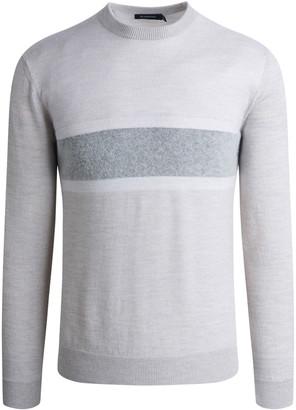 Bugatchi Men's Colorblock Rib-Knit Merino Wool-Blend Sweater